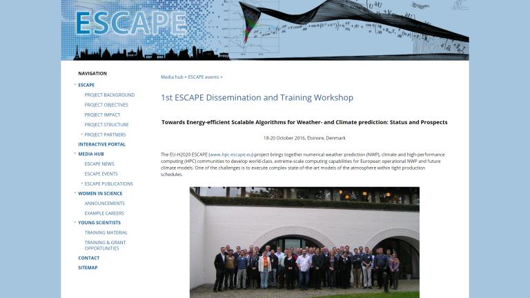ESCAPE 1st dissemination workshop