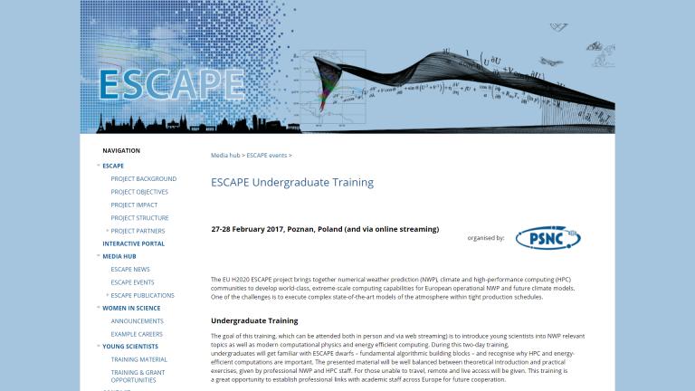 ESCAPE Undergraduate Training Workshop