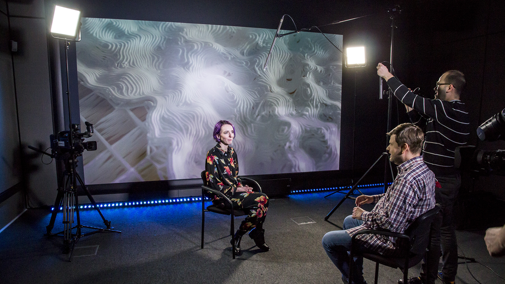 PlatonTV: recording of an interview with the producer of the exhibition Posthuman_Data