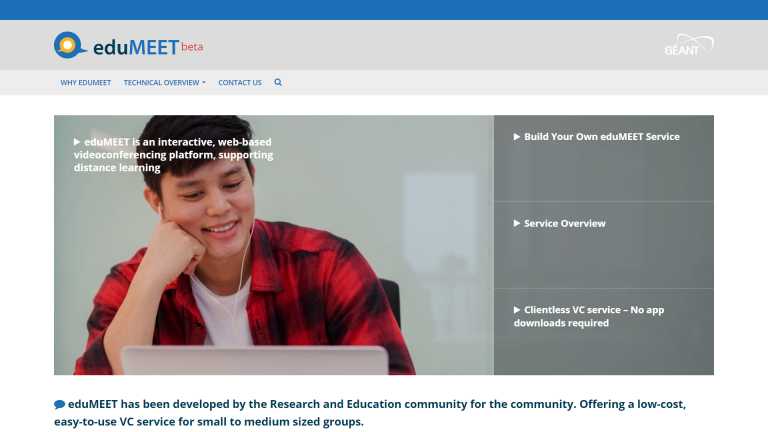 eduMeet supports remote education