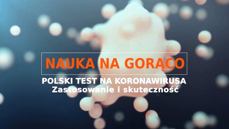 "PIONIER.TV ""Hot science: the first Polish coronavirus test"""