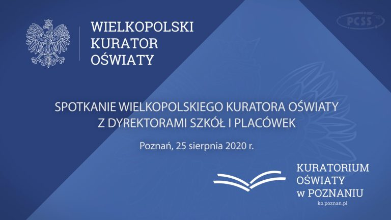 The next webinar of the Board of Education in Poznan with school principals
