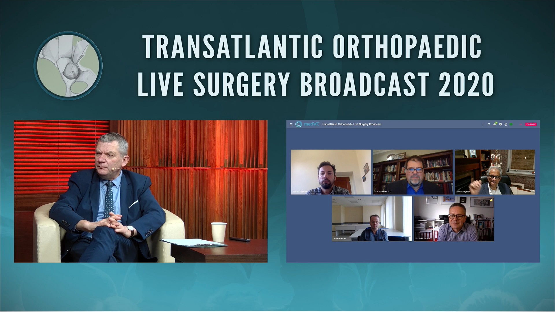 Orthopedic Live Surgery Broadcast 2020 from PSNC studio