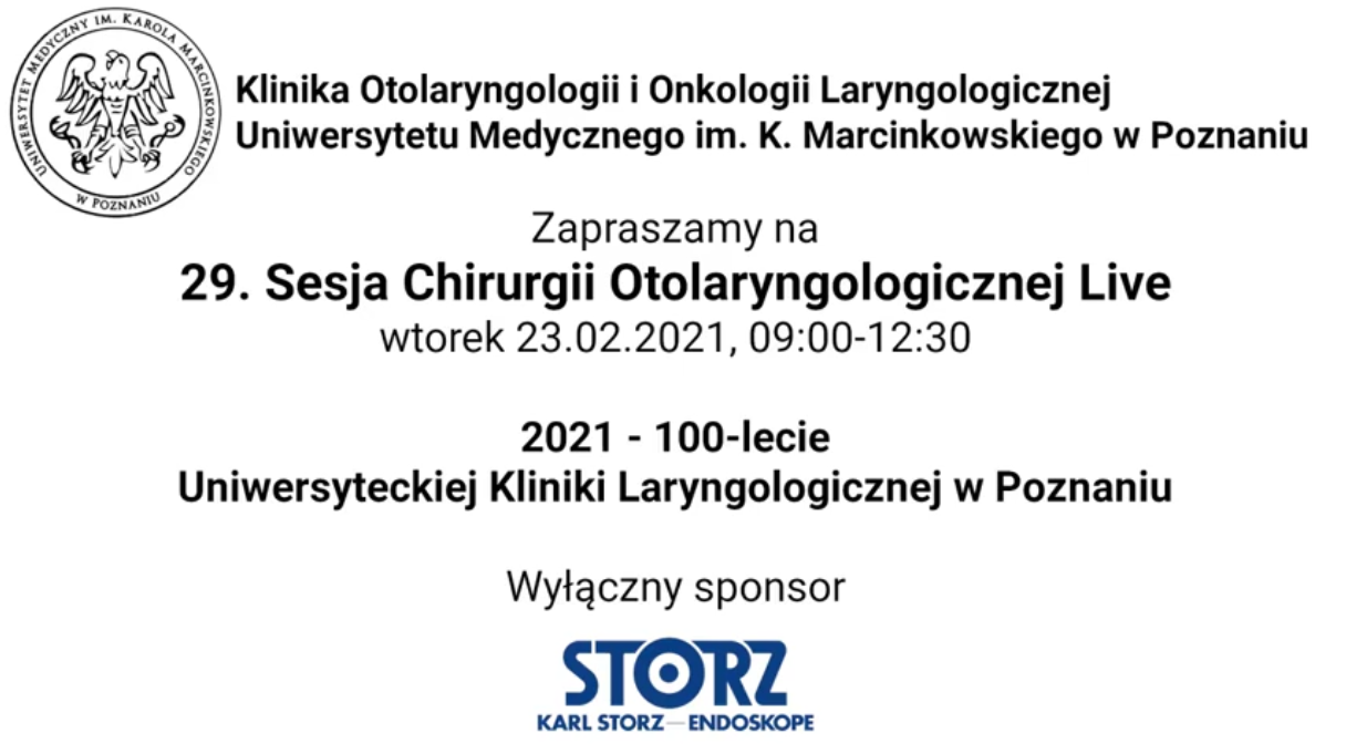 PSNC as a technology partner of the 29th Otolaryngological Surgery Live Session