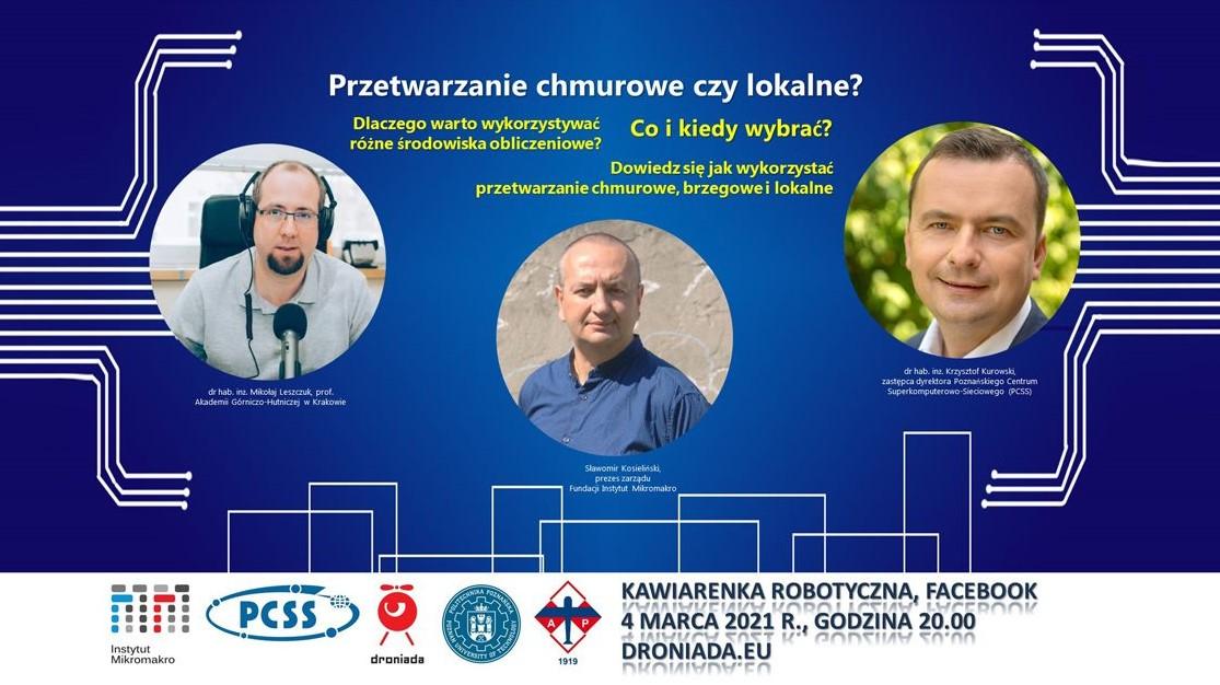 """Dr Krzysztof Kurowski will be a guest of """"Robotics Cafe"""""""
