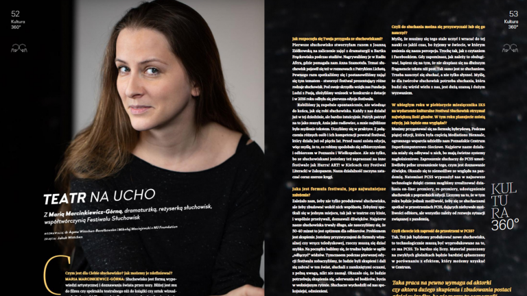 """PSNC has given us tremendous support"" – about cooperation within the framework of the Auditory Festival in the monthly magazine ""Poznański prestiż"""