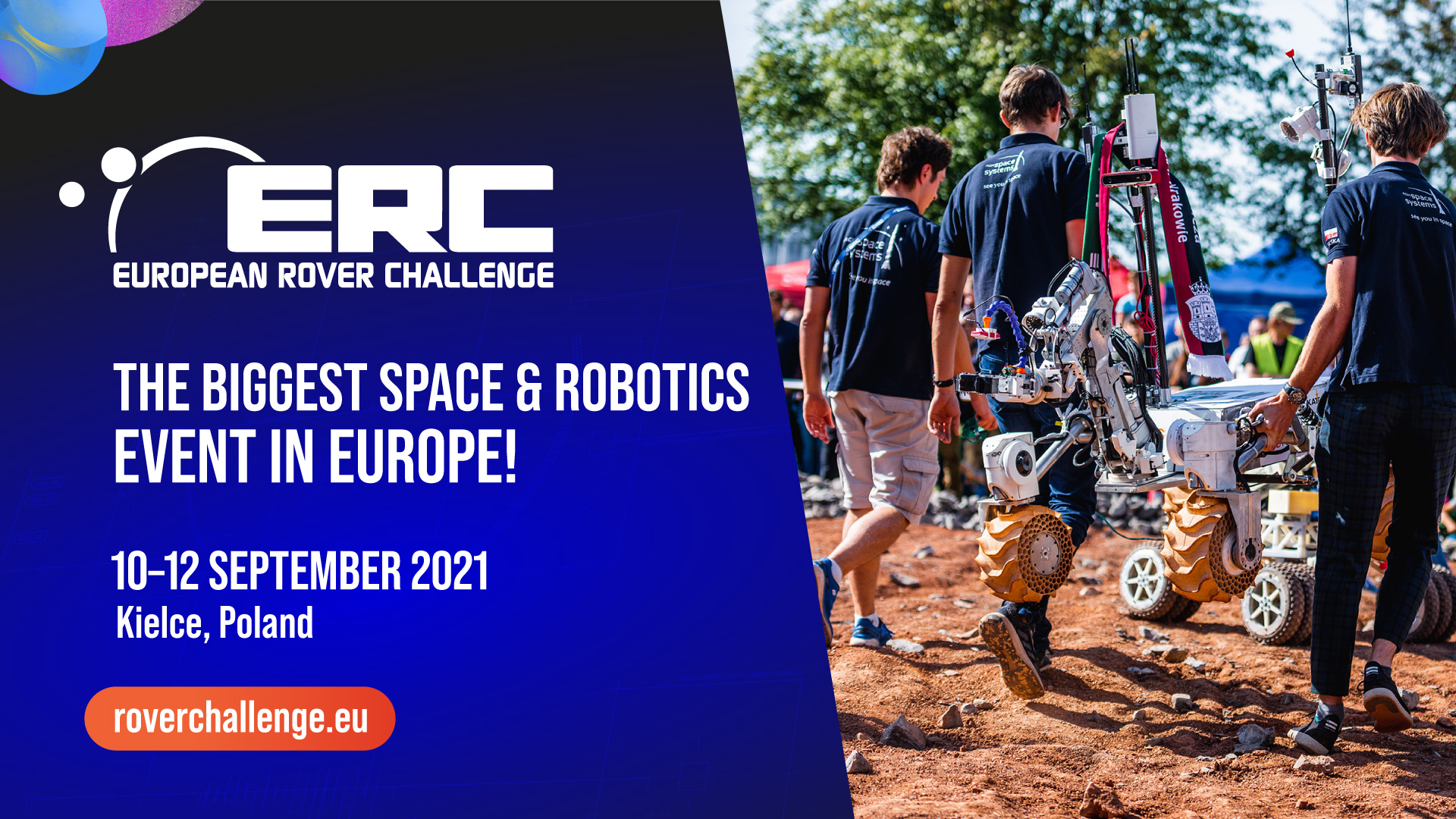 We invite you to the ERC 2021 European Rover Challenge supported technologically by PSNC